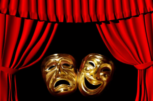 happy and sad theatre masks